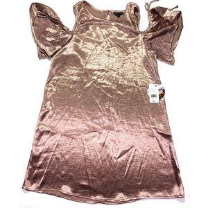 Bebop Rose Gold Dress M NWT Metallic